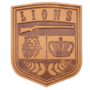 lions leather patch