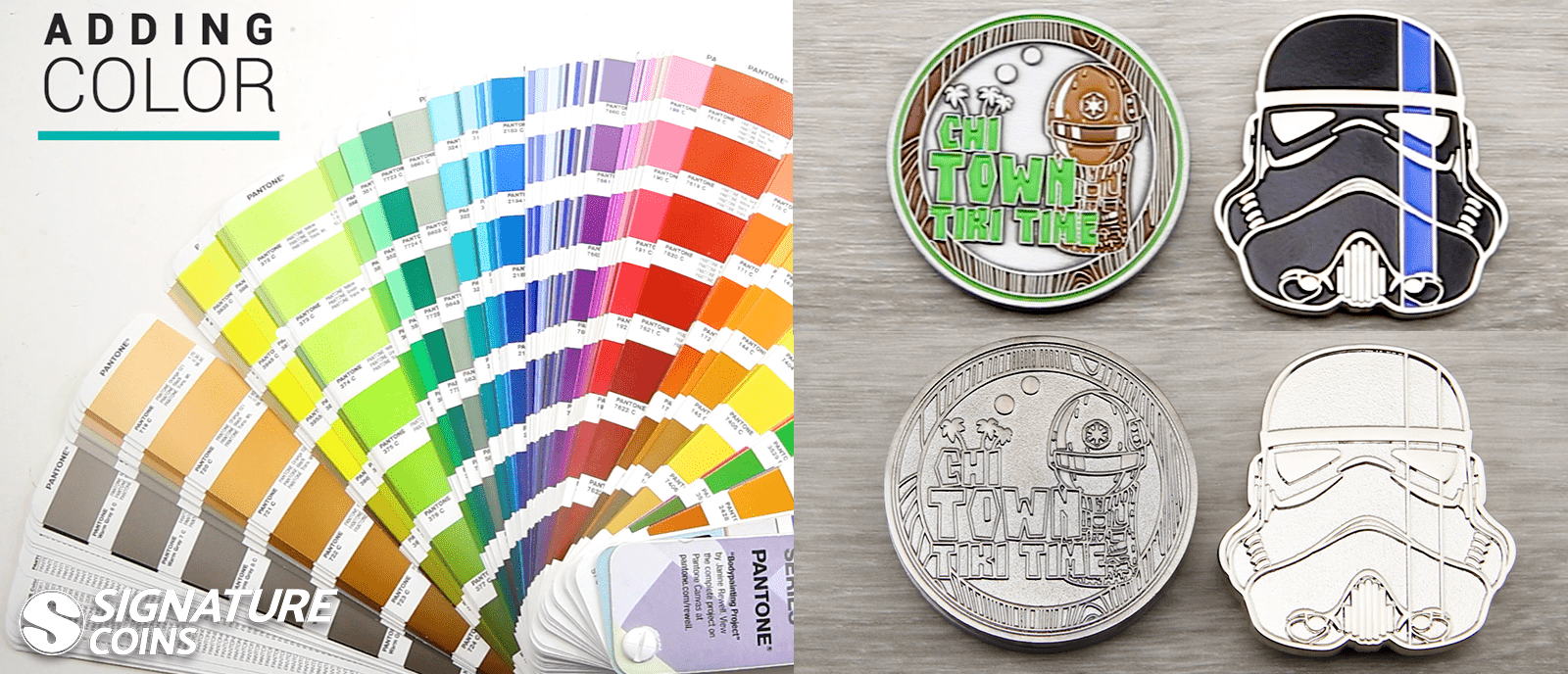 challenge coin - adding color