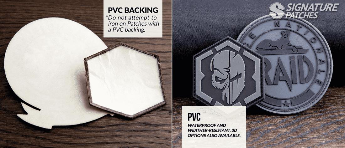 PVC backing vs PVC patch