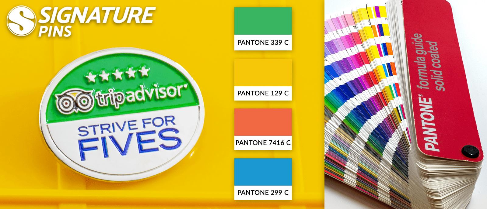 lapel pins tripadvisor pantone colors - signature pins 3