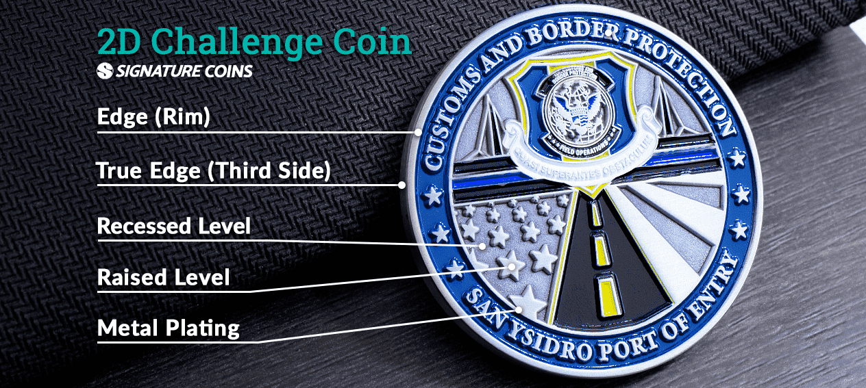 What is a 2D challenge coin 2D by Signature Coins