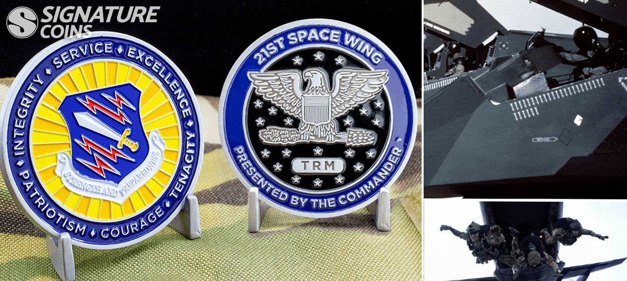 21sst space wing airforce challenge coin by signaturecoins