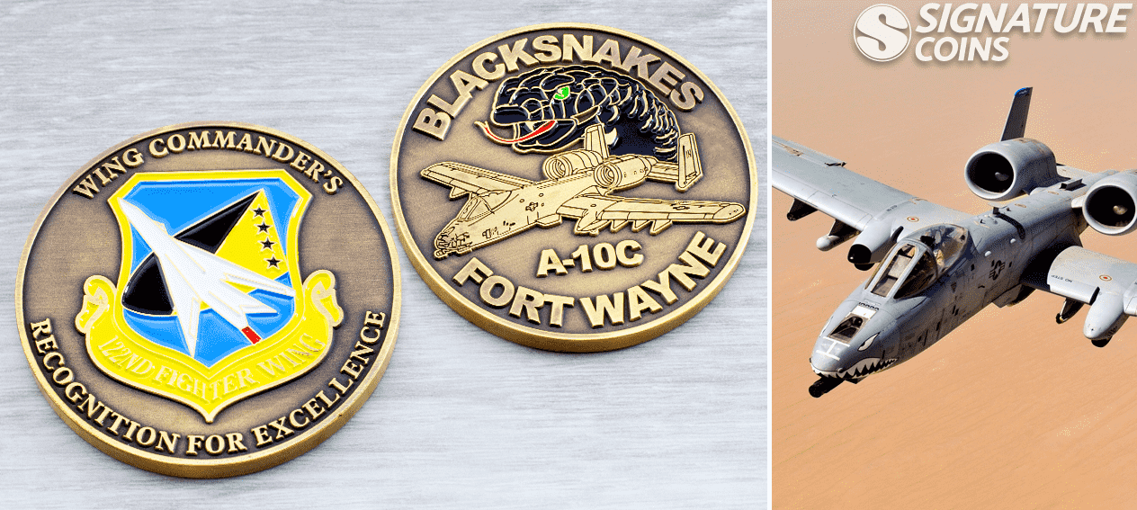 blacknakes fortwayne airforce challenge coins by signature coins