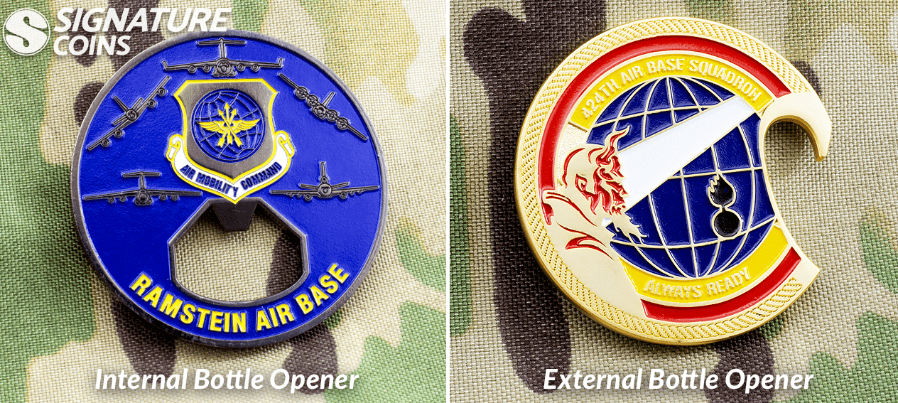 airforce bottle opener challenge coins by signature coins