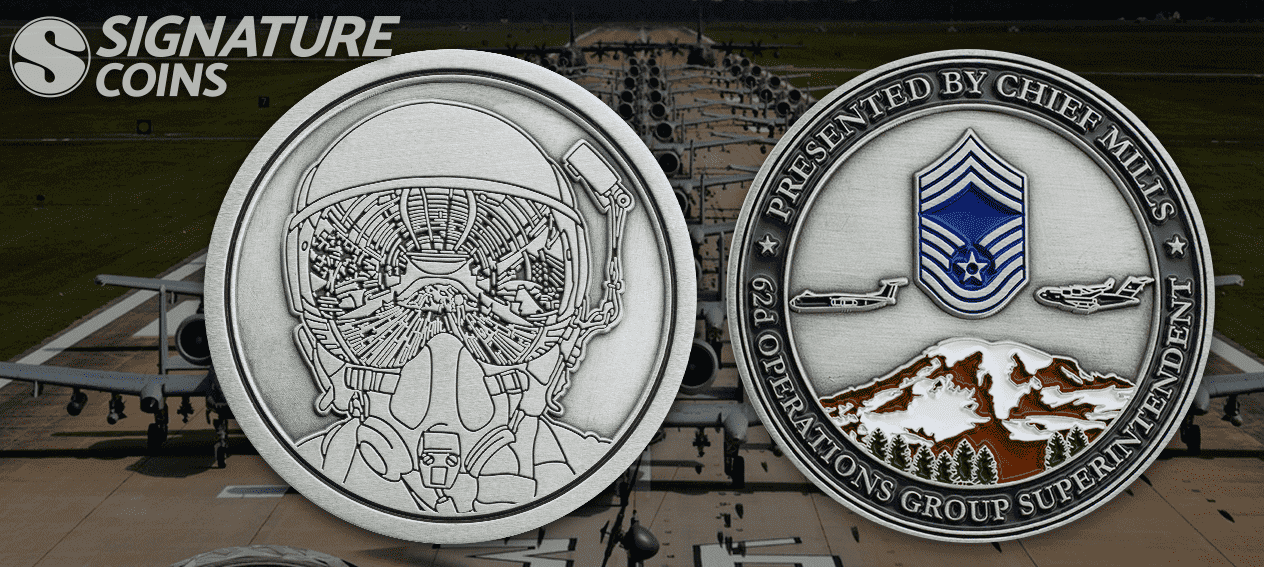 Chief Mills Airforce Coin by signature coins