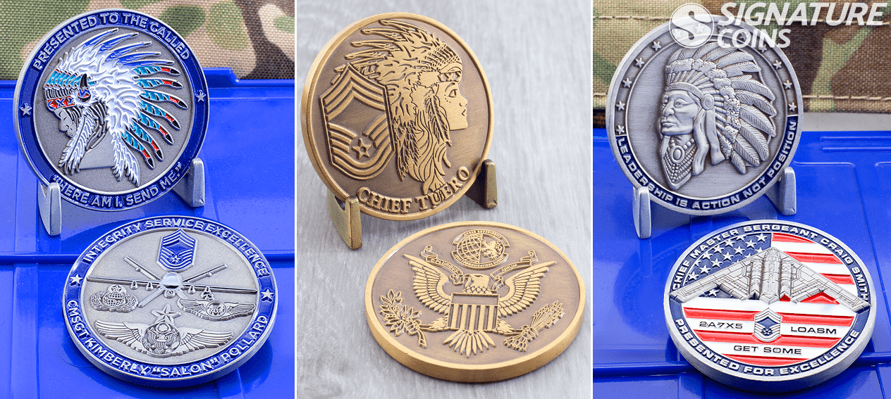 airforce chief challenge coins by signature coins