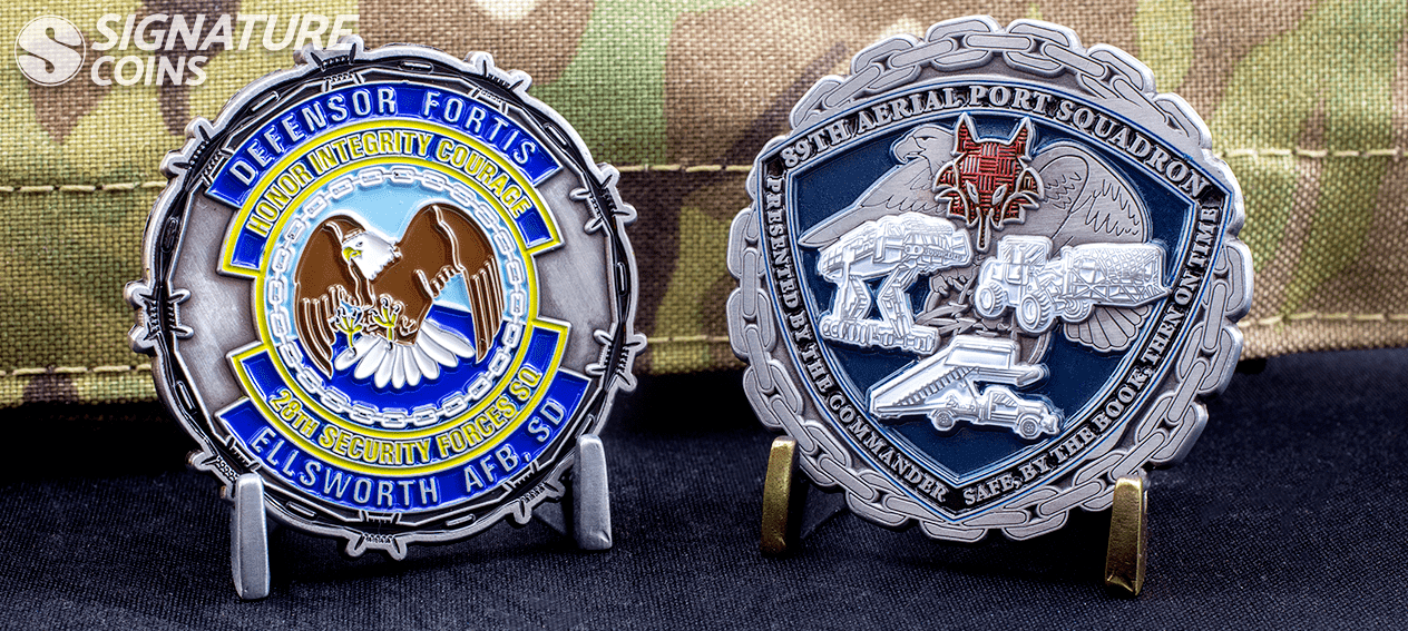 custom edge airforce challenge coins by signature coins