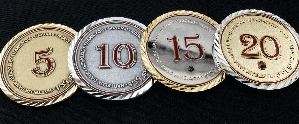 years-of-service Gold and Silver coins2