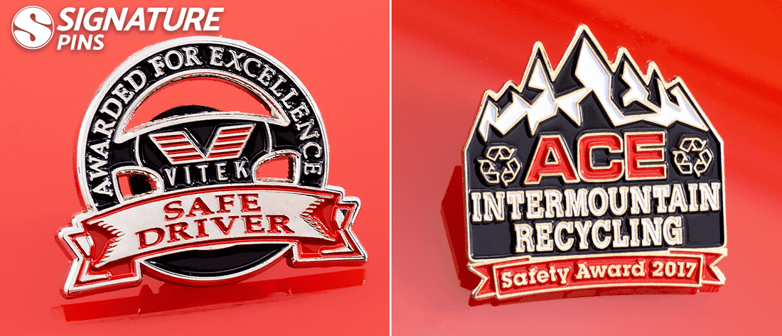 Safety Driver and Safety Award pins