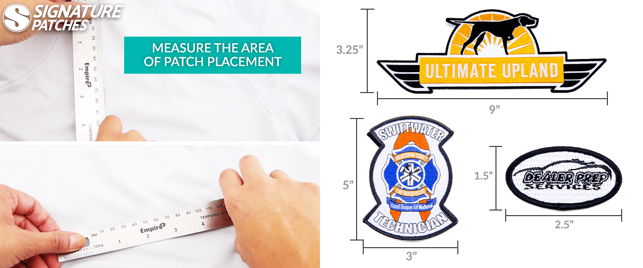 how to measure a patch size and how to order - signature patches