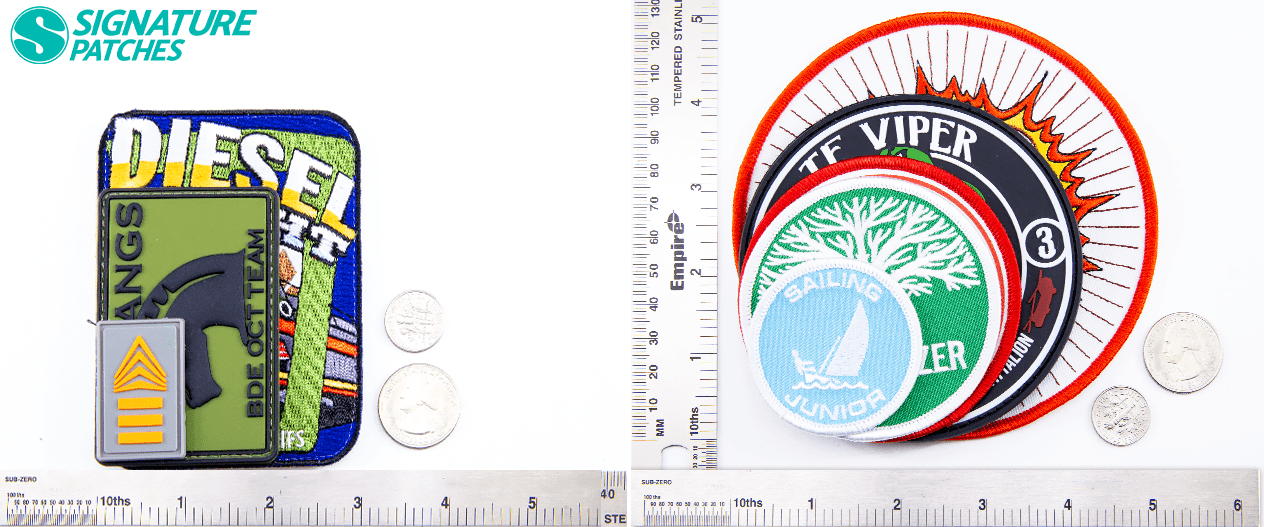 patch sizes and shapes by signature patches