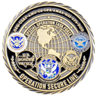 Operation Secure Line Challenge Coin back