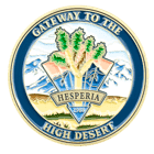 Hesperia California Challenge Coin Gold Front