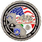 Operation Secure Line Challenge Coin Front