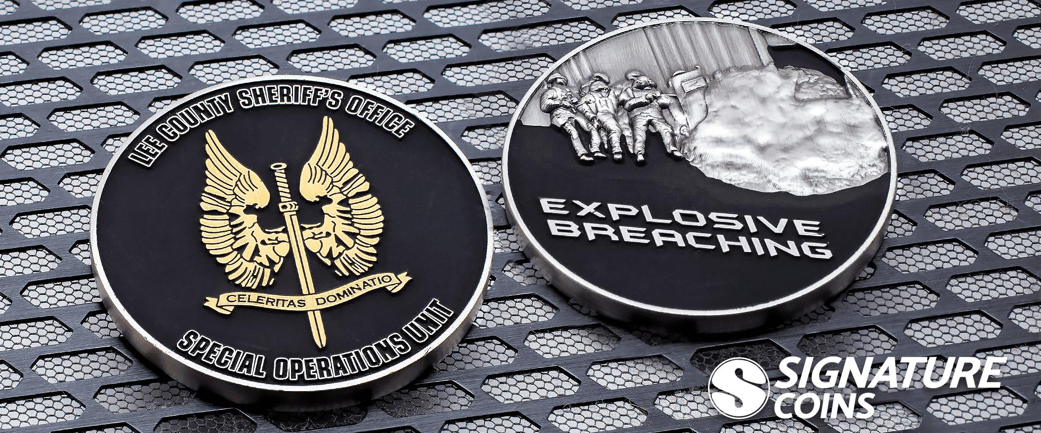 Black Matte - 3D - challenge coin