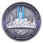 Newark Chief Pilot Office 3D Challenge Coin back