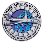 Newark Chief Pilot Office 3D Challenge Coin front
