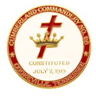 Cumberland Commandery Christian Challenge Coin front