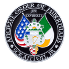 Ancient Order of Hibernians Christian Challenge Coin front