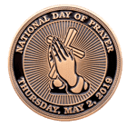 National Day of Prayer Challenge Coin front