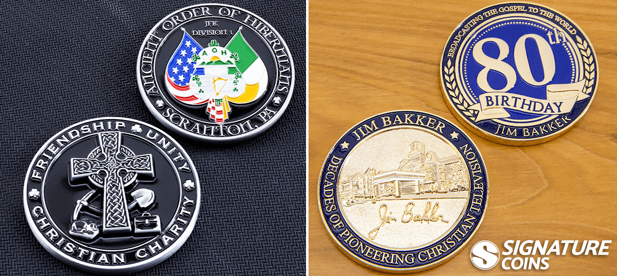 christian charity challenge coin - Christian television challenge coin