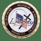 Liberty Baptist Church Challenge Coin back