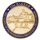 80th Anniversary Broadcasting Christian Challenge Coin back