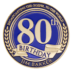 80th Anniversary Broadcasting Christian Challenge Coin front