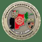Afganistan 3D Challenge Coin back