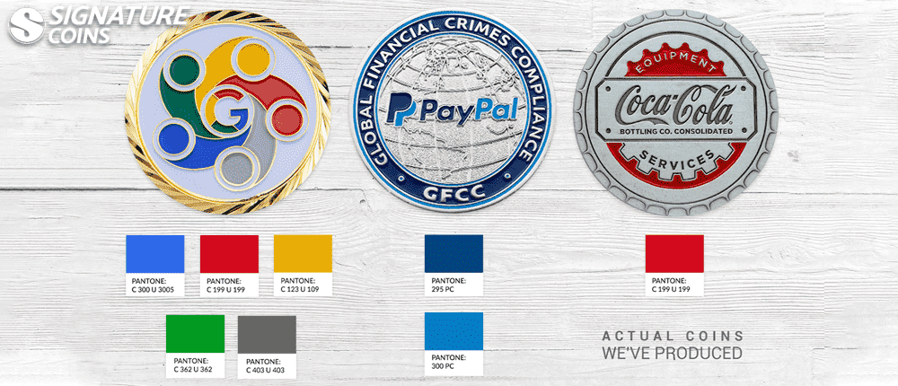 safety challenge coins pantone colors2
