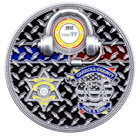 Caroll County 911 Communications Challenge Coin Back