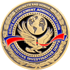 DEA Sensitive Investigative Units Challenge Coin Front