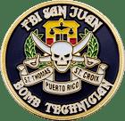 FBI San Juan Challenge Coin Back