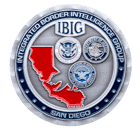 Integrated Border Intelligence Group - UDOHS - Challenge Coin Front