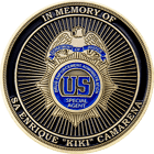 DEA Special Agent In Memory Challenge Coin Front