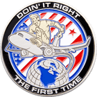 213 Maintenance Squadron Challenge Coin back