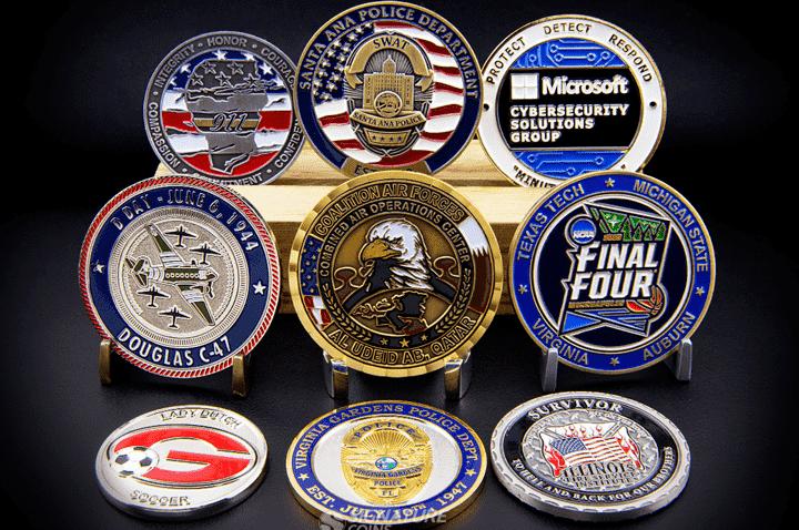 Round Challenge Coins