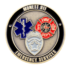 911 Emergency Challenge Coin Back
