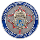 DEA Canada Challenge Coin Front