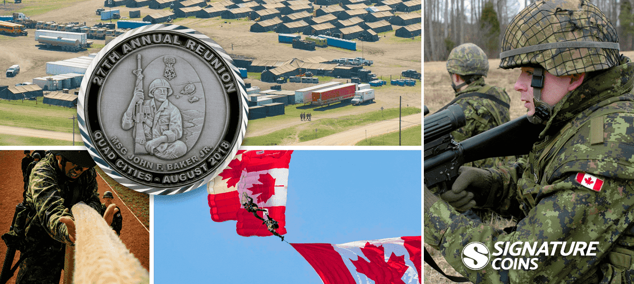 Canadian Army Challenge Coin by Signature Coins