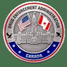 DEA Canada Challenge Coin Back