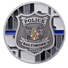 Baltimore County Police Challenge Coin Front