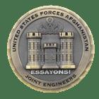 Afganistan 3D Challenge Coin front