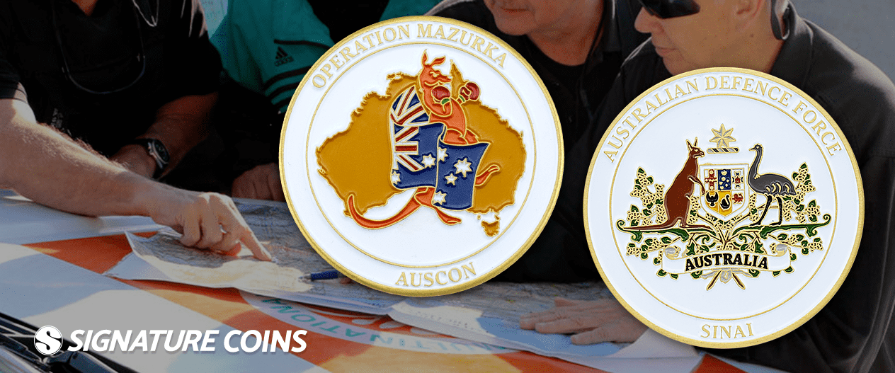australian defense force challenge coins