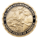 US Army Veterinary Corps Challenge Coin Front
