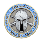 Spartans 3D Challenge Coin