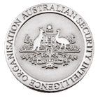 Australian Security Intelligence Organization Challenge coin front
