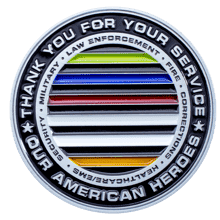 Bricks Across American Challenge Coin back