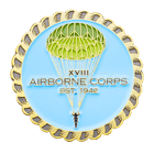 XVIII Airborne Corps Challenge Coin front