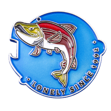 Lonesome Larry Charity Challenge Coin back
